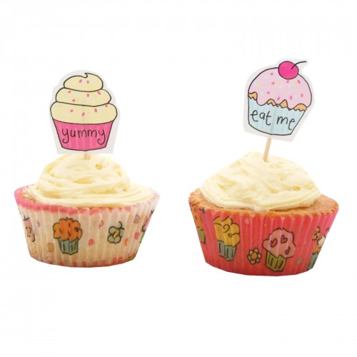 Cupcake forme med toppers