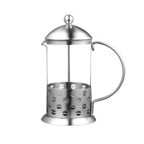 Stempelkande i rustfrit stål og glas 800 ml