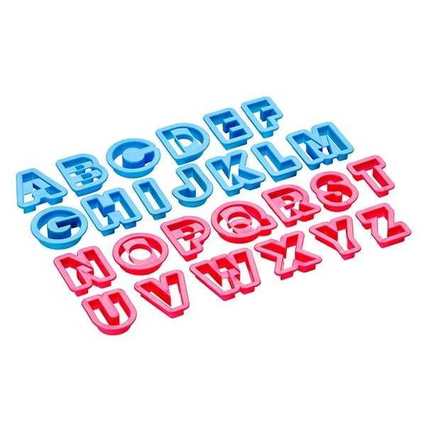 Udstikkere med bogstaver A-Z