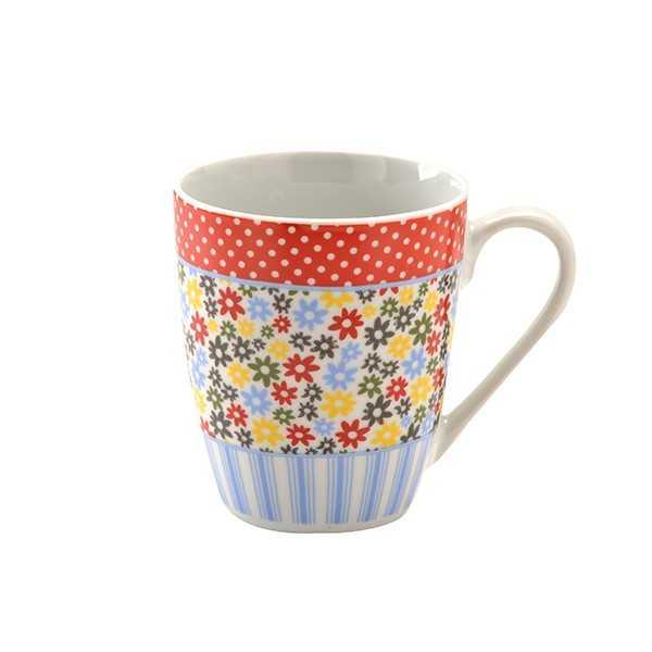 Porcelænskrus med hank og flot mønster - Price & Kensington