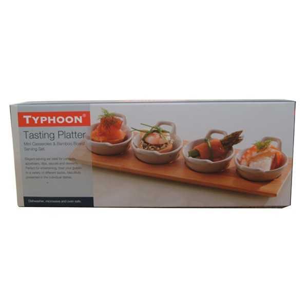 Serveringsplatte med små skåle til f.eks. snacks fra Typhoon