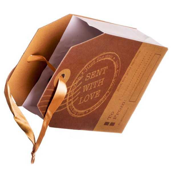 Flot gavepose i kraftig kvalitet med To / From tekst