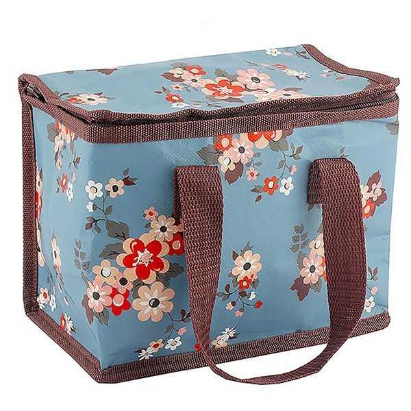 Frokost/picnictaske med fint blomstermotiv - Katie Blue