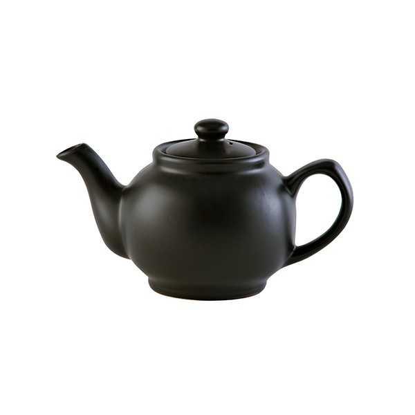 Lille tekande til to kopper te i mat sort keramik