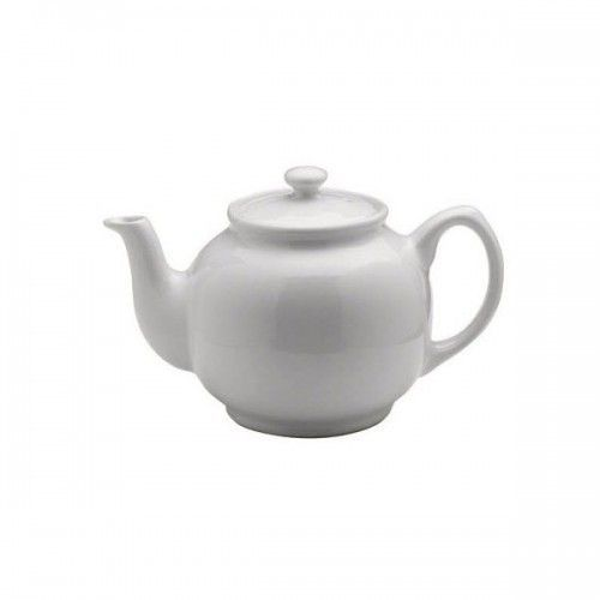 Tekande i hvid keramik 2 kopper te