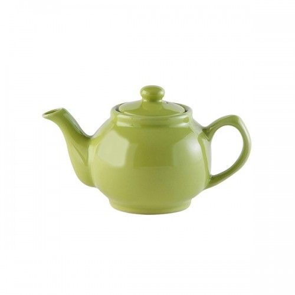 Tekande i grøn keramik til to kopper te