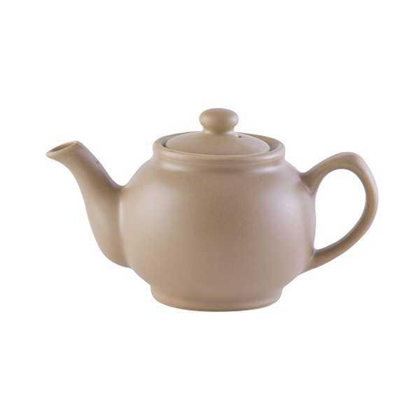Lille tekande til to kopper te i keramik - mat taupe (gråbrun)