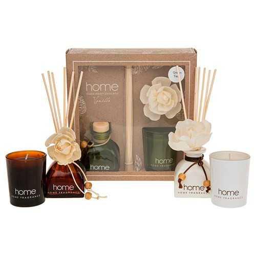Gaveæske med duftlys og duftpinde - Vanilla