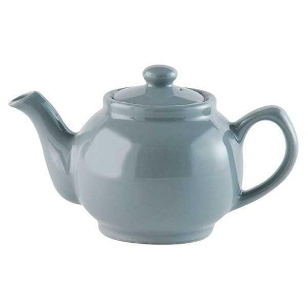 Tekande til to kopper te i glaseret grå keramik