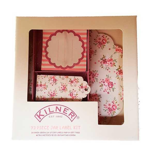 Klistermærker til krydderiglas og marmeladeglas med blomster