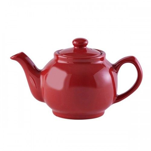 Lille tekande i rød keramik 450 ml