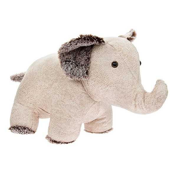 Dørstopper Elefant i lyst kunstlæder