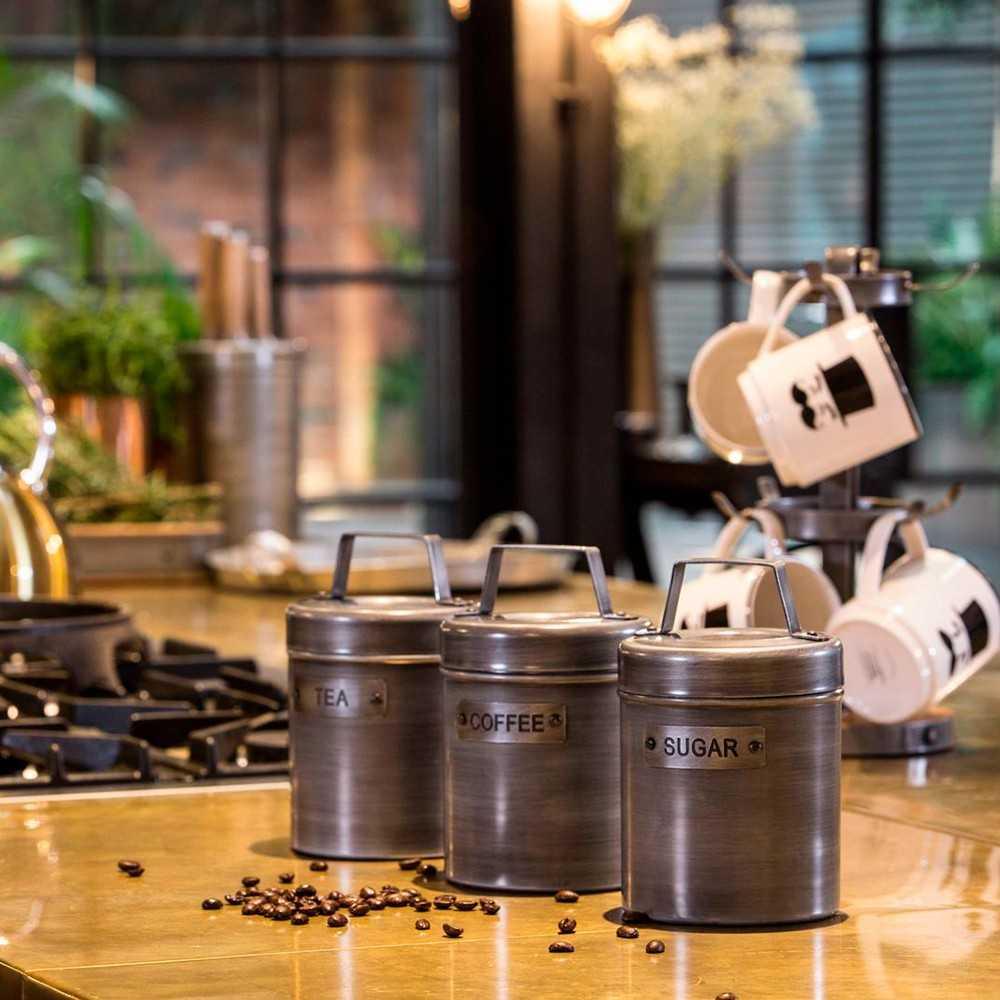 Opbevaringsdåse til kaffe i industrielt design