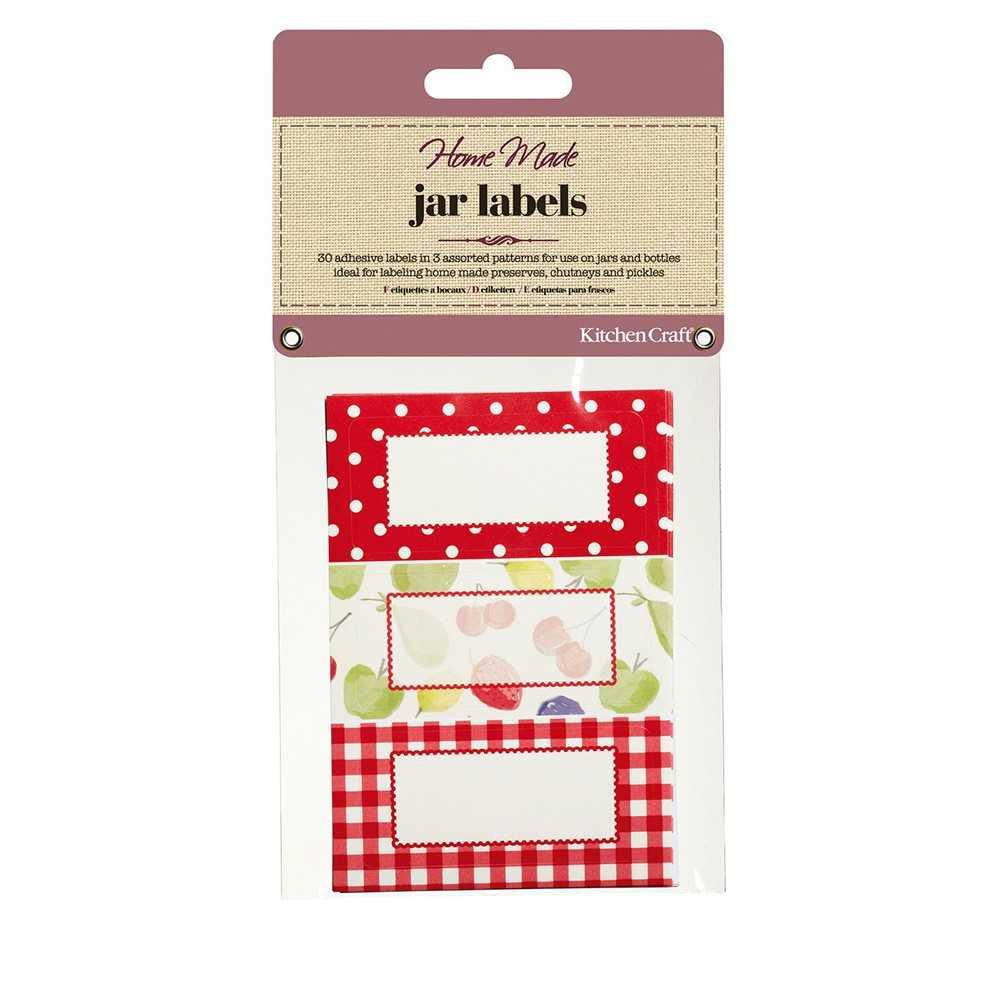 Kitchen Craft klistermærker til krydderiglas - rød