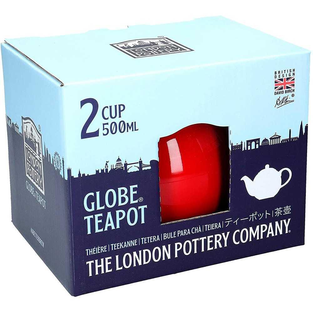Rød tekande fra London Pottery 500 ml