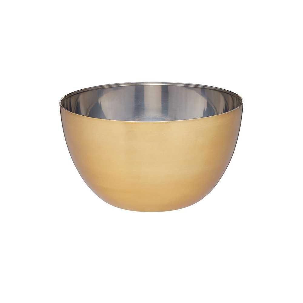 Skål i rustfrit stål og messing fra Kitchen Craft