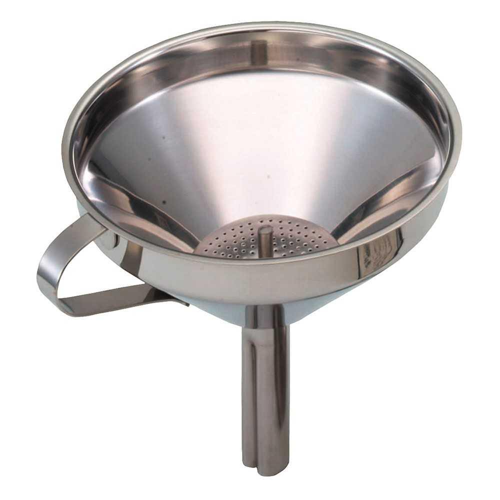 Tragt i rustfrit stål med filter - Kitchen Craft