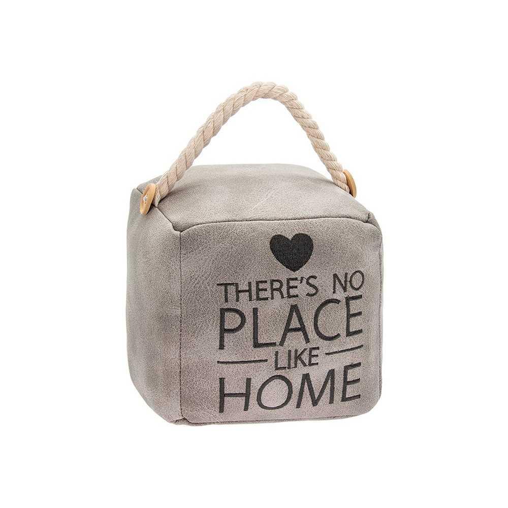 Dørstopper firkantet i kunstlæder - There's no place like home